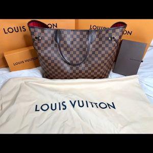 Authentic Louis Vuitton Damier Ebene Neverfull GM